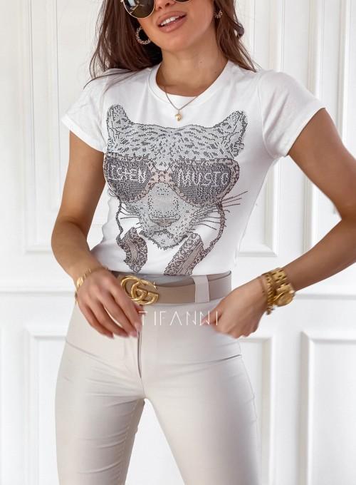 T-shirt Tiger biały 1