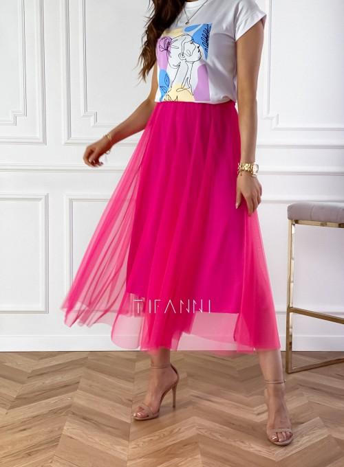 Spódnica plisowana Fabio w kolorze fuksji