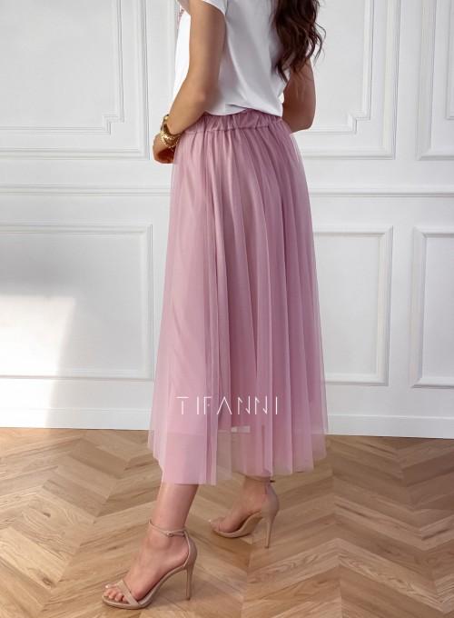 Spódnica plisowana Fabio w kolorze pudrowym 4