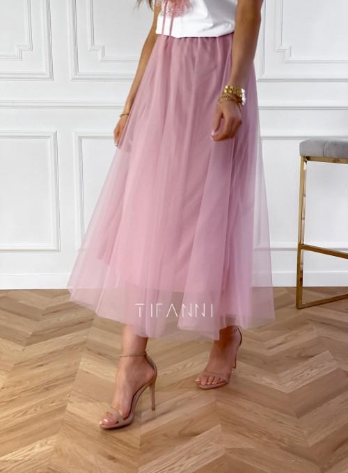 Spódnica plisowana Fabio w kolorze pudrowym 5