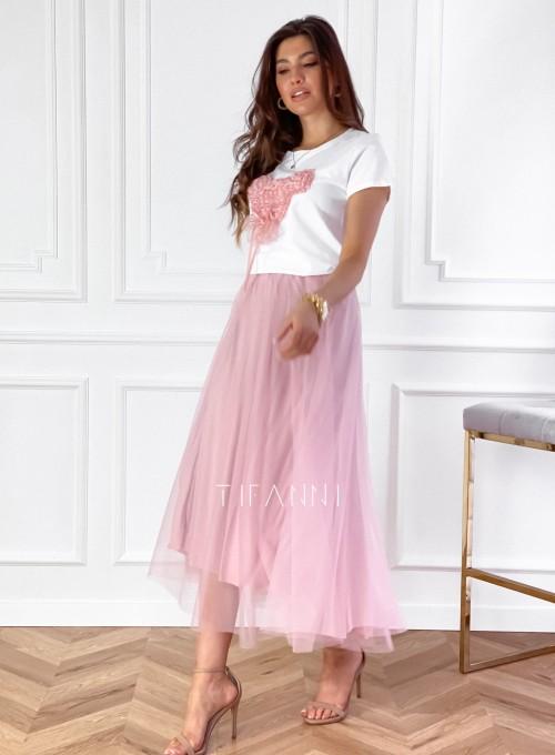 Spódnica plisowana Fabio w kolorze pudrowym 1