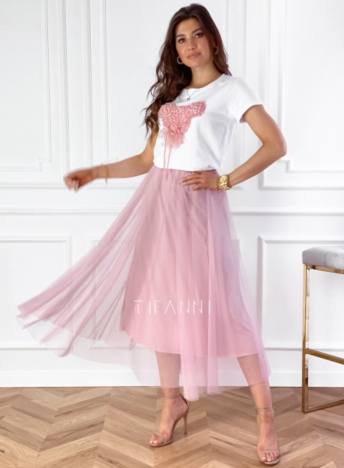 Spódnica plisowana Fabio w kolorze pudrowym 3