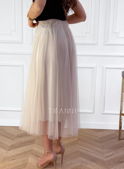 Spódnica plisowana Fabio w kolorze beżowym 2