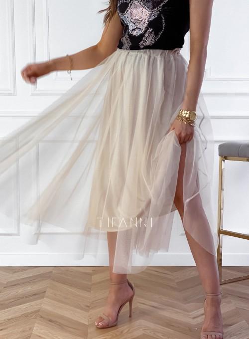 Spódnica plisowana Fabio w kolorze beżowym 4