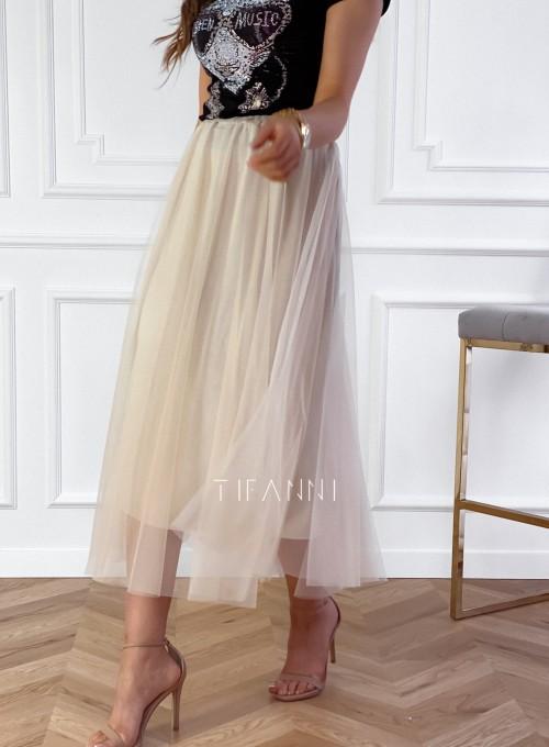 Spódnica plisowana Fabio w kolorze beżowym 5