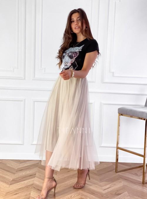 Spódnica plisowana Fabio w kolorze beżowym 6