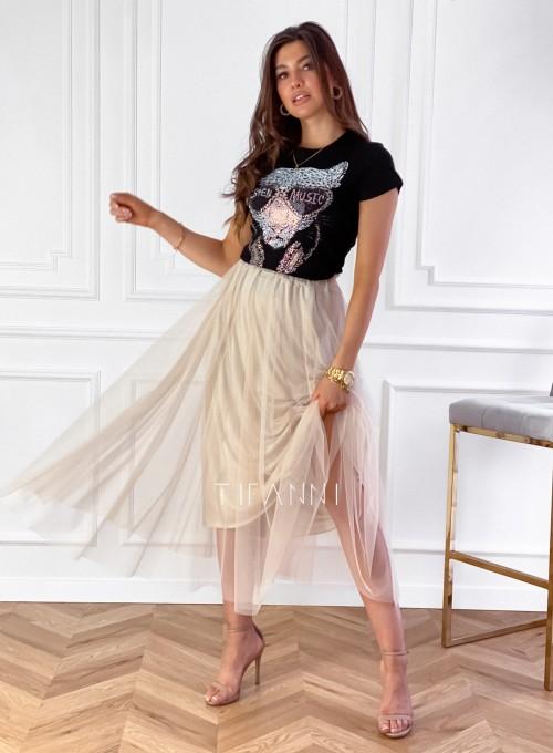Spódnica plisowana Fabio w kolorze beżowym 3
