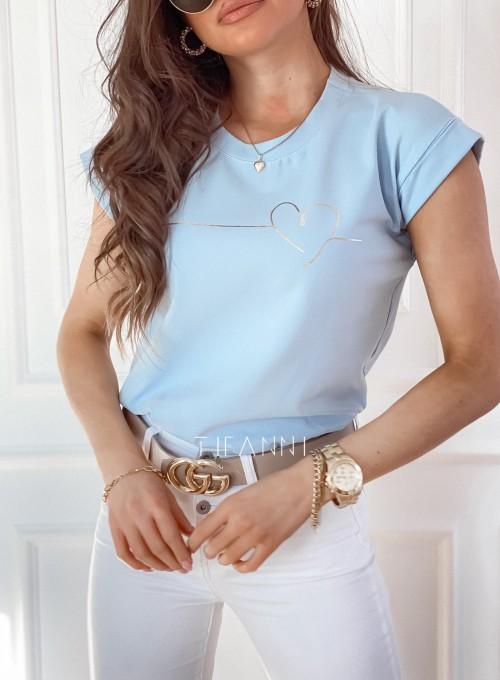 T-shirt Serce błękitny 1