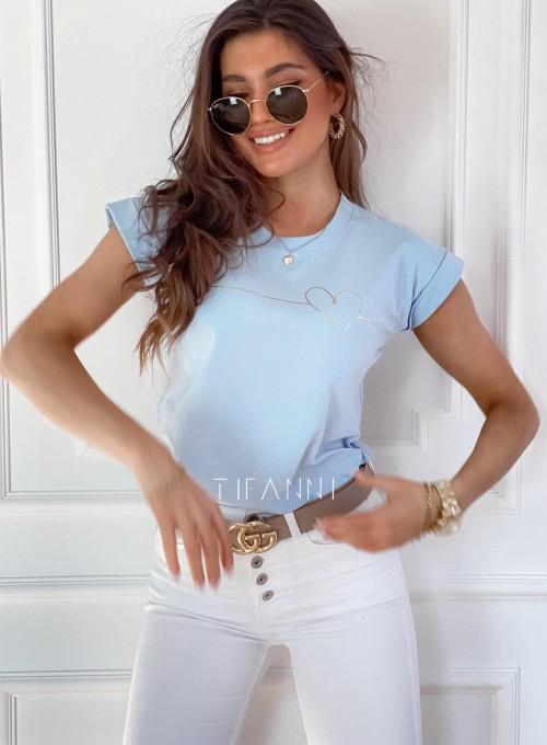 T-shirt Serce błękitny 2