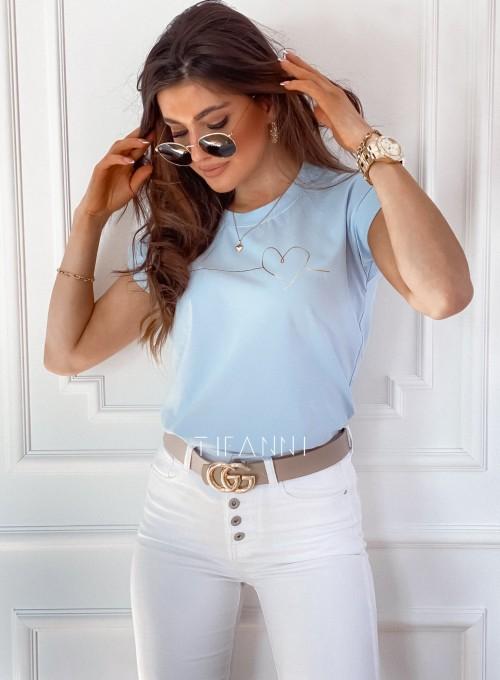 T-shirt Serce błękitny 5
