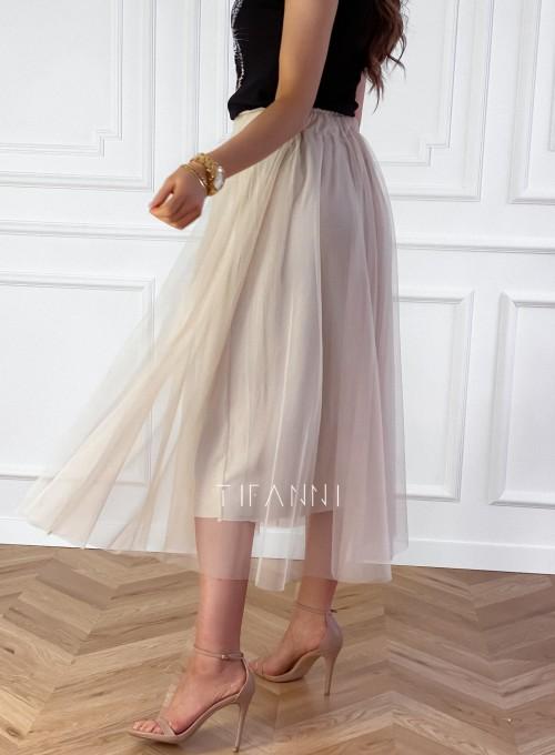 Spódnica plisowana Fabio w kolorze beżowym
