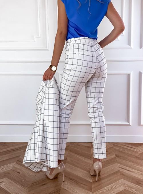 Spodnie Oli krata śmietankowe 3