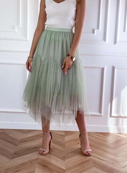 Tiulowa spódnica Tami miętowa 3