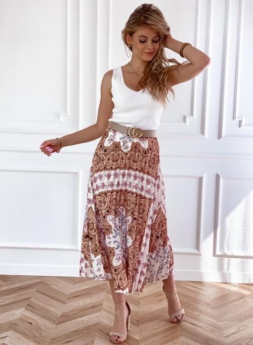 Spódnica plisowana wzorzysta Sofia