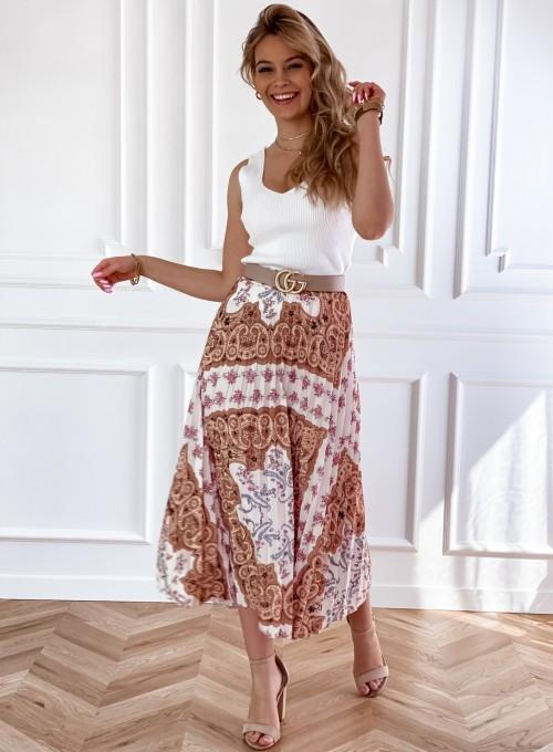 Spódnica plisowana wzorzysta Sofia 5
