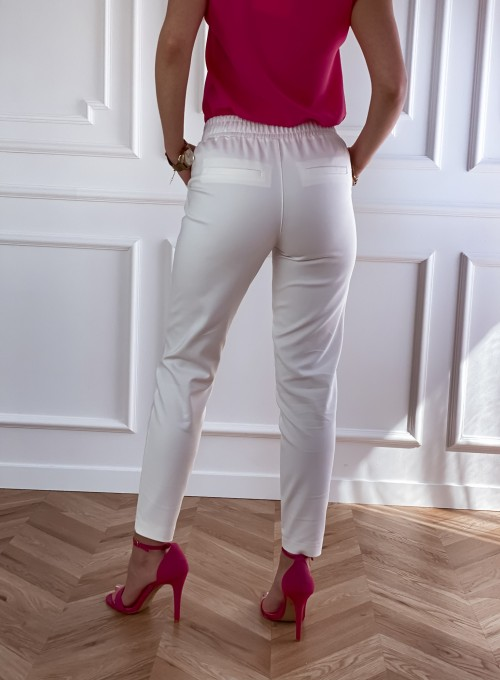 Spodnie Lavia śmietankowe 3
