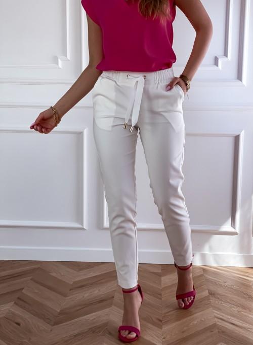 Spodnie Lavia śmietankowe 4