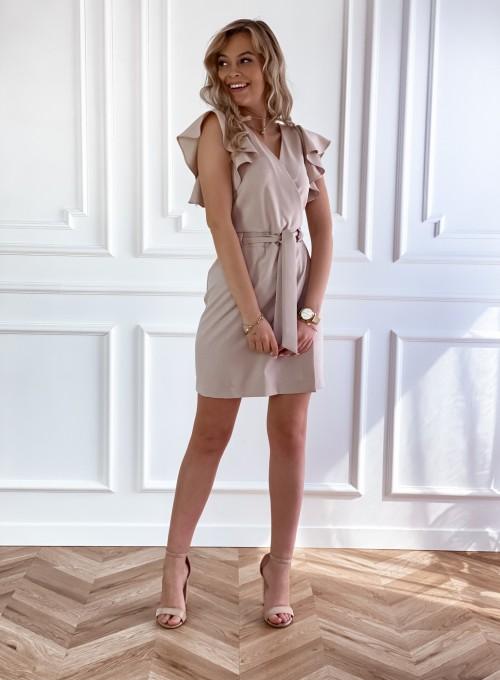 Elegancka sukienka Cristi beżowa 5