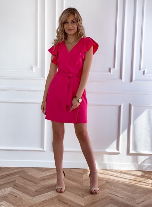 Elegancka sukienka Cristi fuksja 1