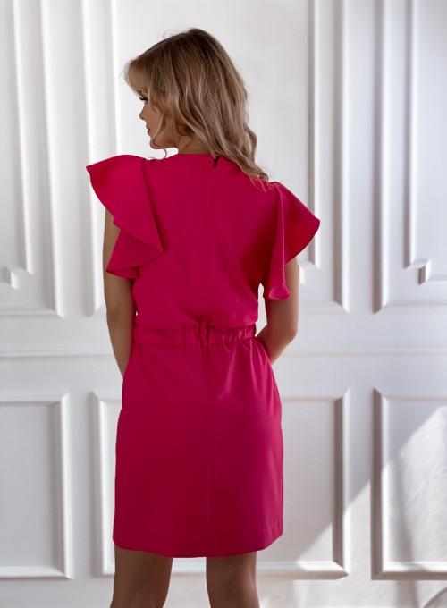 Elegancka sukienka Cristi fuksja 3
