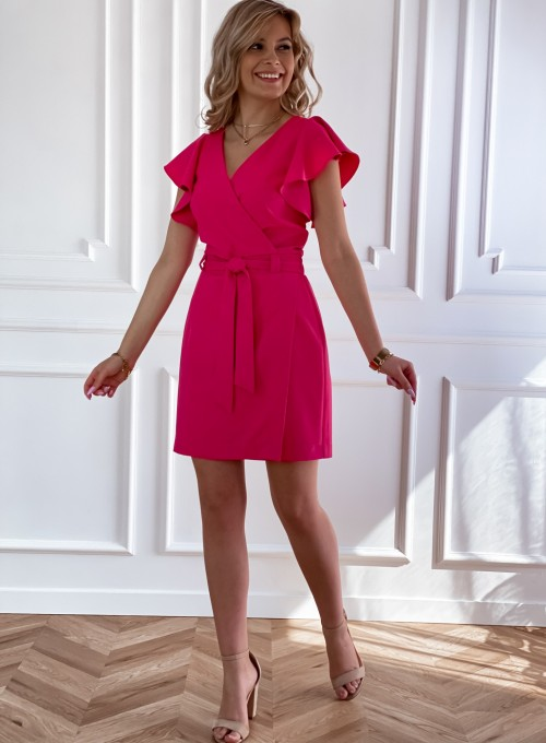 Elegancka sukienka Cristi fuksja 6