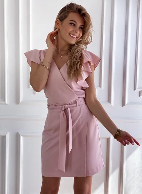 Elegancka sukienka Cristi pudrowa