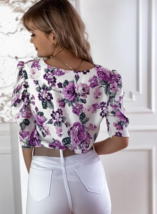 Bluzka w liliowe kwiatki Salvi 3
