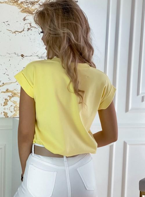 T-shirt Serce w kolorze bananowym 3