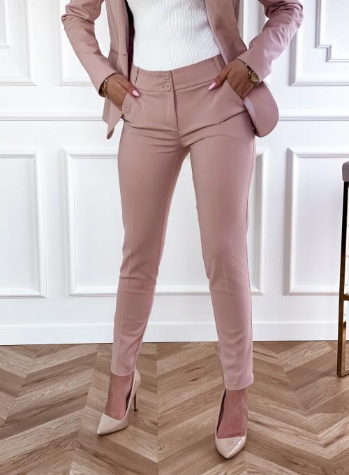 Spodnie Bonni pudrowe