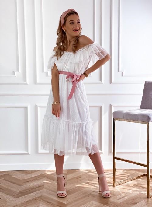 Koronkowa sukienka hiszpanka Latina ecru