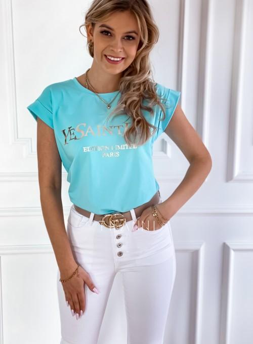 T-shirt Saint Love miętowy 5