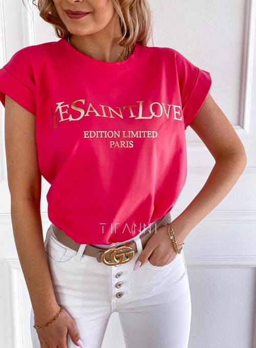 T-shirt Saint Love fuksja 1