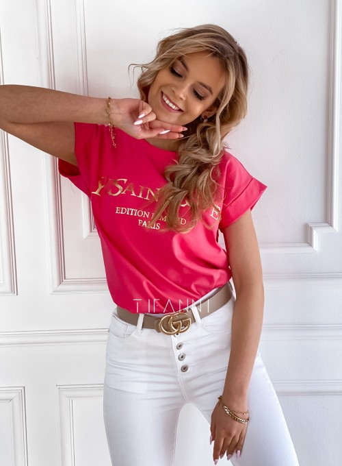 T-shirt Saint Love fuksja 2