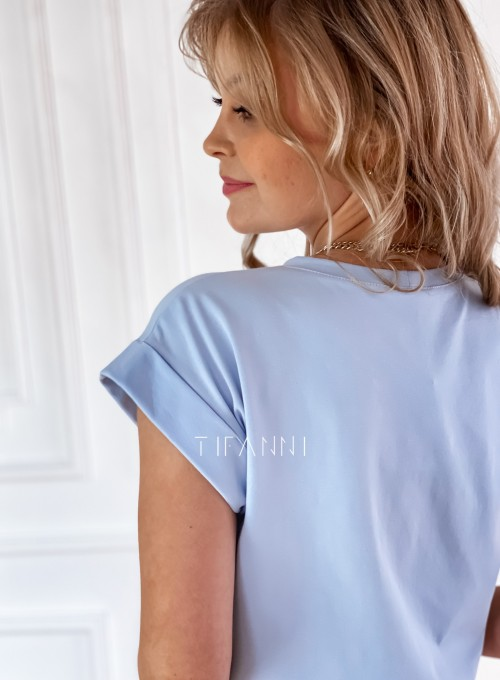 T-shirt Saint Love błękitny 3
