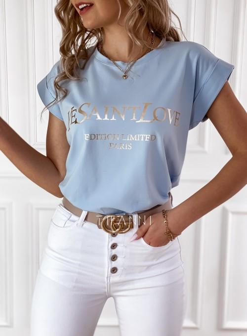 T-shirt Saint Love błękitny 1