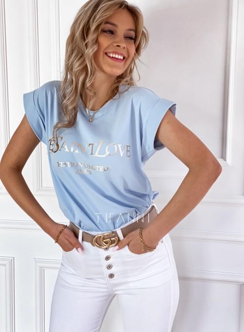 T-shirt Saint Love błękitny 2