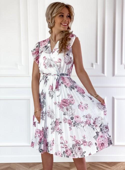 Plisowana kwiatowa sukienka Auris III