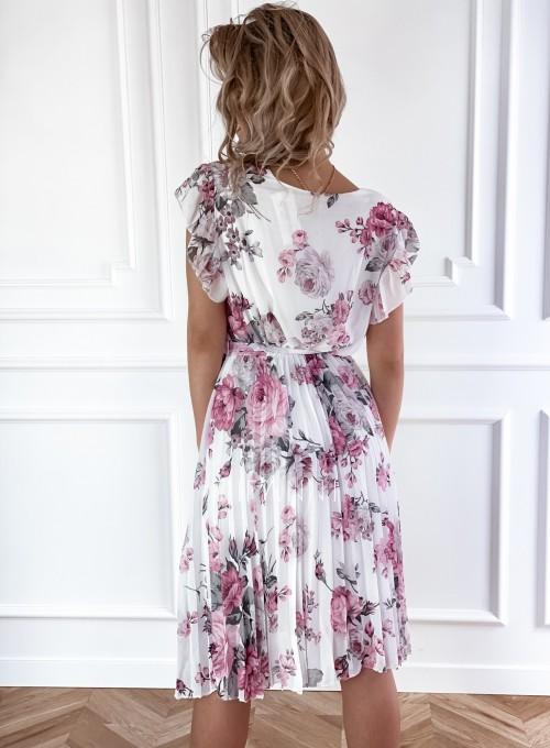 Plisowana kwiatowa sukienka Auris III 2