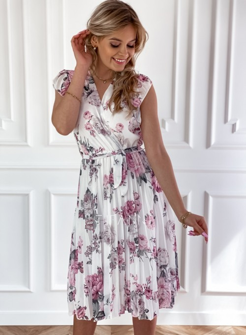 Plisowana kwiatowa sukienka Auris III 3