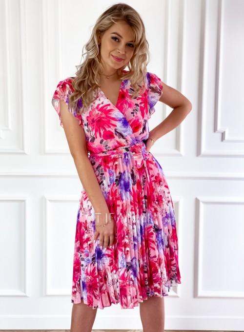 Plisowana kwiatowa sukienka Auris IV