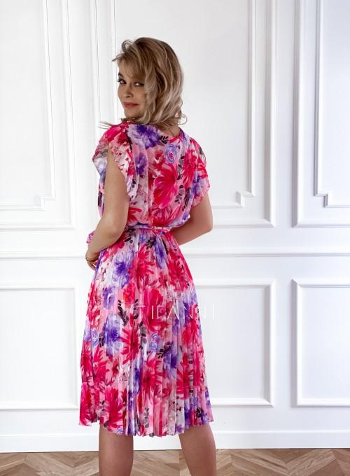 Plisowana kwiatowa sukienka Auris IV 3