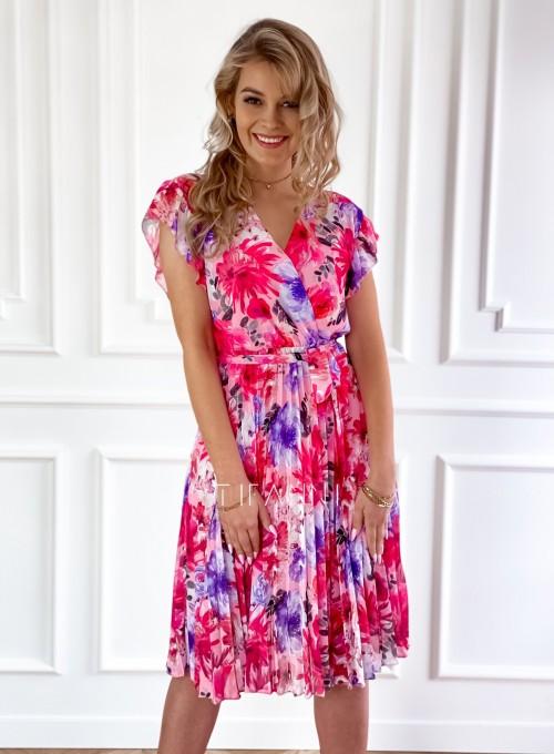 Plisowana kwiatowa sukienka Auris IV 4