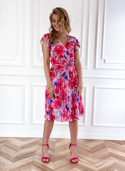 Plisowana kwiatowa sukienka Auris IV 6