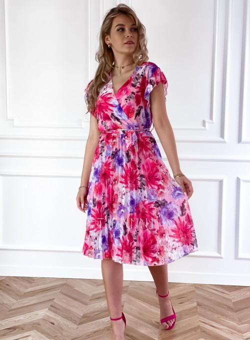 Plisowana kwiatowa sukienka Auris IV 2