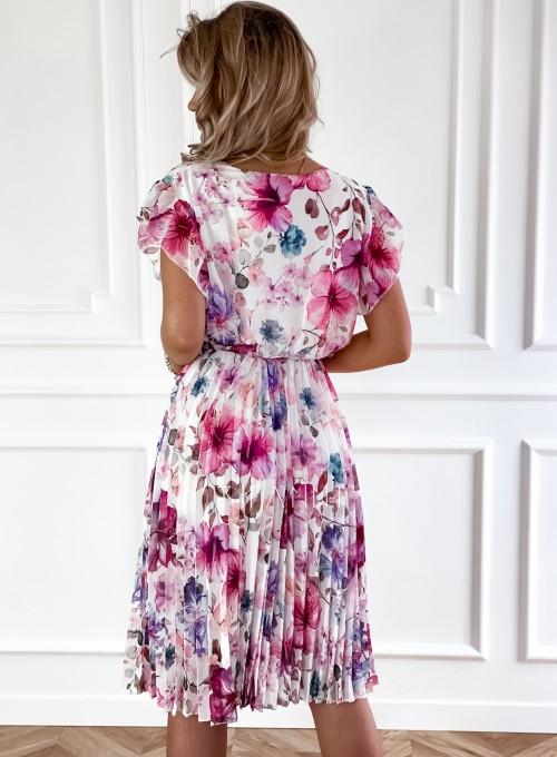 Plisowana kwiatowa sukienka Auris V 2