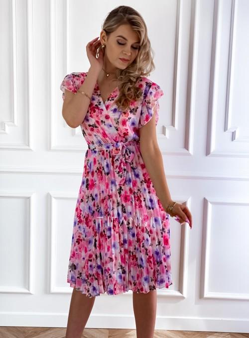 Plisowana kwiatowa sukienka Auris VI