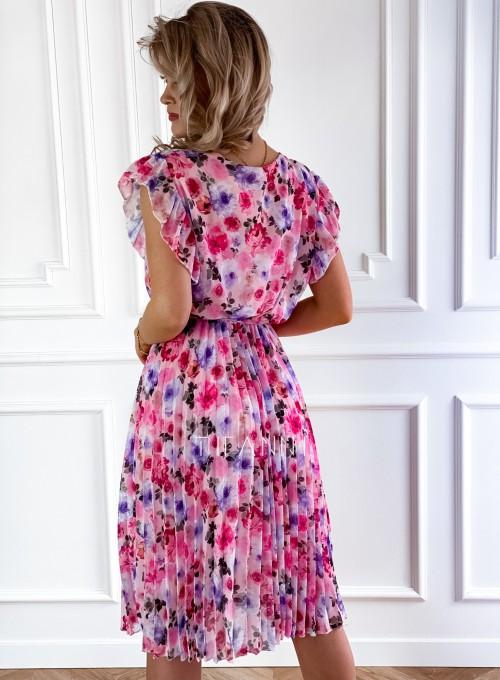 Plisowana kwiatowa sukienka Auris VI 3
