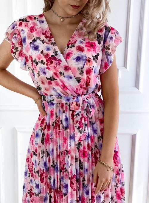 Plisowana kwiatowa sukienka Auris VI 1
