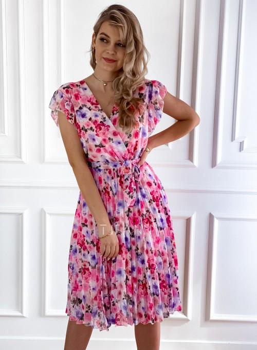 Plisowana kwiatowa sukienka Auris VI 4