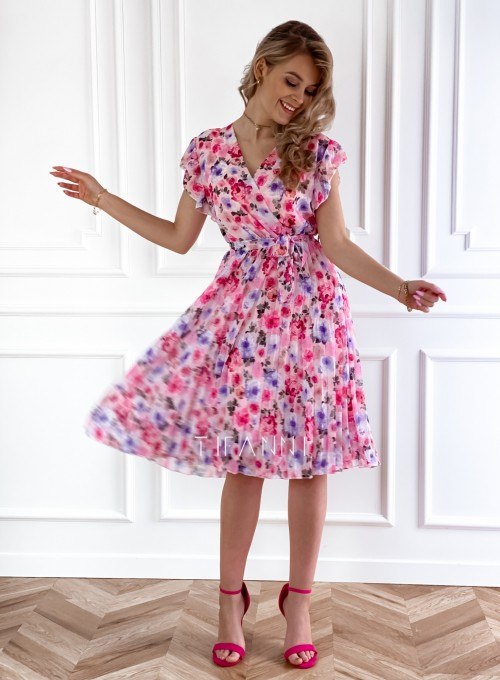 Plisowana kwiatowa sukienka Auris VI 5